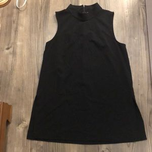 New York & Co black mock neck tunic top L